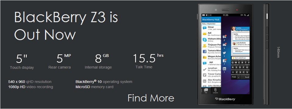 BlackBerry-Z3-specs