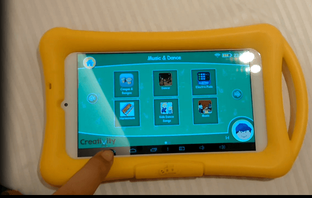 A picture of creativity tablet