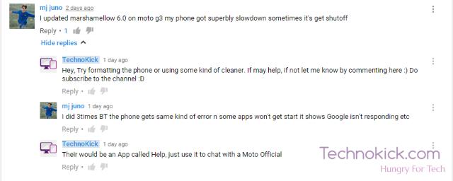 Moto G Marhmallow update